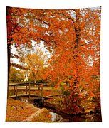A Morning In Autumn - Lake Carasaljo Tapestry