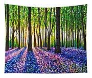 A Morning Walk Through Bluebells Tapestry
