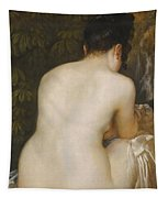 A Naked Woman Seen From Behind Tapestry