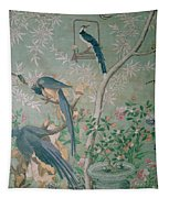 A Pair Of Magpie Jays  Vintage Wallpaper Tapestry