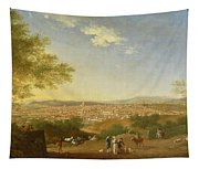 A Panoramic View Of Florence From Bellosguardo Tapestry