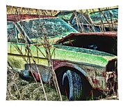 A Parted Out Mustang Tapestry