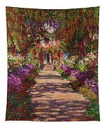 A Pathway In Monets Garden Giverny Tapestry