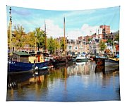 A Peaceful Canal Scene - The Netherlands L B Tapestry