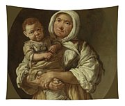 A Peasant Mother With Her Child In Her Arms Tapestry