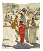 A Peep At The Train, India, 1892 Tapestry