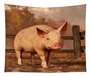 A Pig In Autumn Tapestry