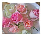 A Plate Of Roses Tapestry