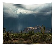 A Rainy Evening In The Superstitions  Tapestry