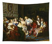 A Reading By Madame De Sevigne Tapestry