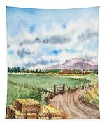 A Road To The Mountain Tapestry