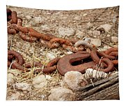 A Rusty Chain And Hook Tapestry