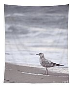 A Seagull At The Beach Tapestry