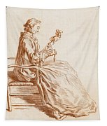 A Seated Woman Tapestry