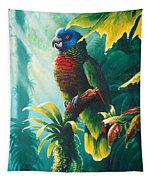 A Shady Spot - St. Lucia Parrot Tapestry