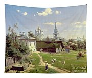 A Small Yard In Moscow Tapestry