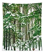 A Snowy Day - Paint Tapestry