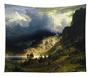 A Storm In The Rocky Mountains Mt. Rosalie, 1866 Tapestry