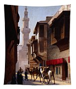 A Street In Cairo Tapestry