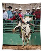 A Strong Bull Ride Tapestry
