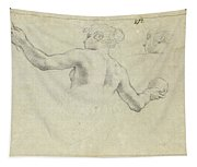 A Study For A Female Allegorical Figure And A Separate Study For Her Head Tapestry