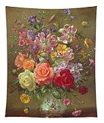 A Summer Floral Arrangement Tapestry