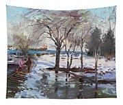 A Sunny Freezing Day Tapestry