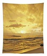 A Sunrise Over Oahu Hawaii Tapestry