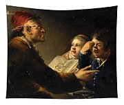 A Teacher And His Pupils Tapestry