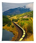 A Train Of Golden Grain  Tapestry