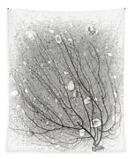 A Tree On The Beach #2 - Seaweed And Shells Tapestry