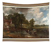 A Tribute To John Constable Catus 1 No. 1 -the Hay Wain L B With Alt. Decorative Ornate Frame. Tapestry