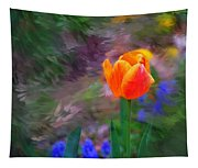 A Tulip Stands Alone Tapestry
