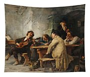 A Vagrant Ministrel In A Tavern Tapestry