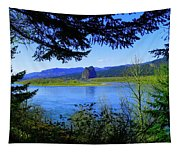 A View Of Beacon Rock Tapestry