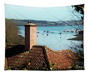 A View Of Mylor Harbour Tapestry