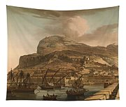A View Of The Rock Of Gibraltar From The Spanish Lines 1782 Tapestry