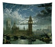A View Of Westminster Abbey And The Houses Of Parliament Tapestry