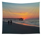 A Walk At Sunrise - Avalon New Jersey Tapestry