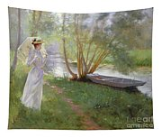 A Walk By The River Tapestry