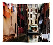 A Walk In Venice Tapestry