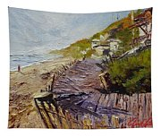 A Walk On The Beach Tapestry