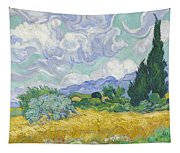 A Wheat Field, With Cypresses Tapestry