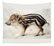 A Wild Boar Piglet Tapestry
