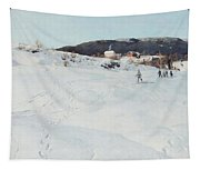 A Winter's Day In Norway Tapestry