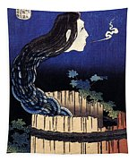 A Woman Ghost Appeared From A Well Tapestry
