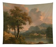 A Wooded Hilly Landscape Tapestry