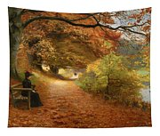 A Wooded Path In Autumn Tapestry