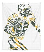 Aaron Rodgers Green Bay Packers Pixel Art 22 Tapestry