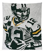 Aaron Rodgers Green Bay Packers Pixel Art 4 Tapestry